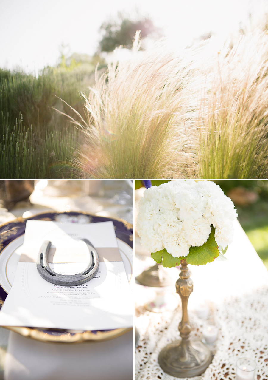 antique brass wedding centerpieces, feather grass wedding, vintage china wedding plates, horseshoe wedding favors,  fine art wedding portraits, gorgeous bride and groom, paso robles wedding, central coast wedding photographer, southern california fine art wedding photographer, vintage wedding, western themed wedding, victorian themed wedding, ranch wedding, farm wedding, fine art wedding photography, fine art wedding photographer, photography similar to jose villa
