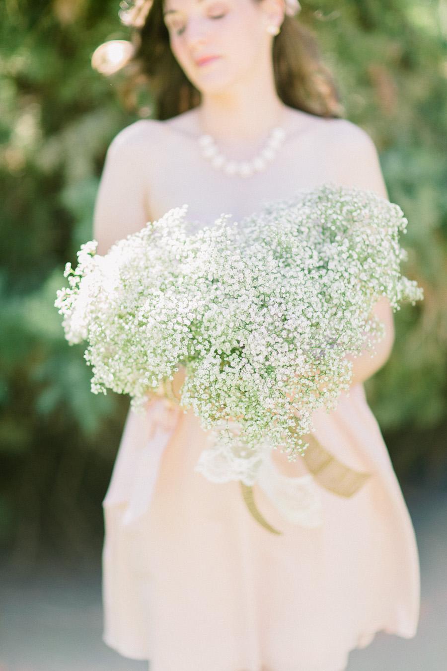 fine art wedding photography, forest wedding, babies breath wedding bouquet, fine art wedding portraiture, soft light
