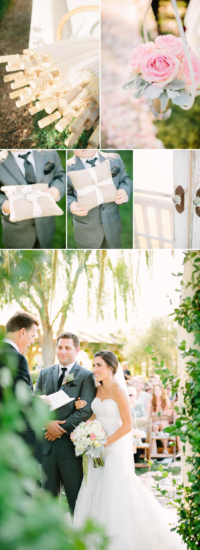 southern california fine art wedding photographer, ponte winery wedding, vineyard wedding, winery wedding, temecula wedding, glowy wedding photography, fine art photography, ceremony guest parasols